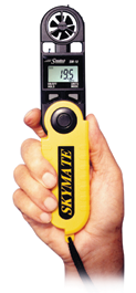 The hand-held SkyMate weather instrument