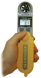 The hand-held SkyMaster weather instrument
